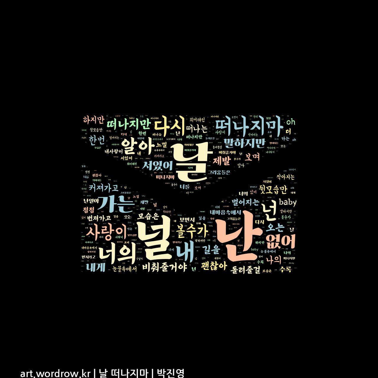 워드 아트: 날 떠나지마 [박진영]-31